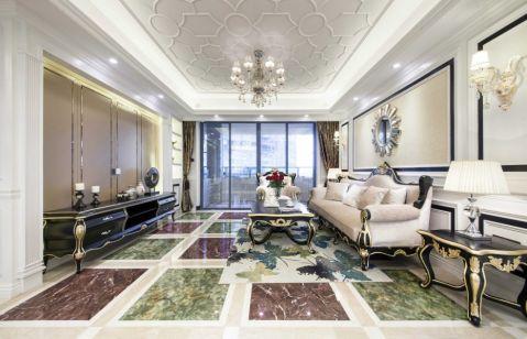 欧式风格136平米三房两厅新房装修效果图