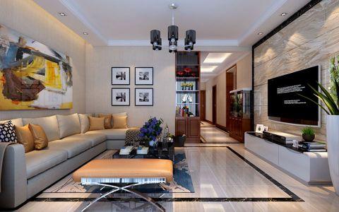 简约风格140平米三房两厅新房装修效果图
