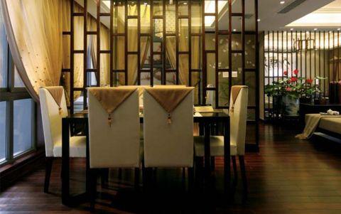 餐厅窗帘新中式风格装饰效果图