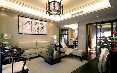 新中式风格140平米四房两厅新房装修效果图