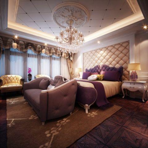 卧室吊顶欧式风格装修效果图