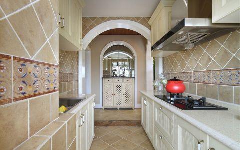 厨房背景墙田园风格装饰效果图