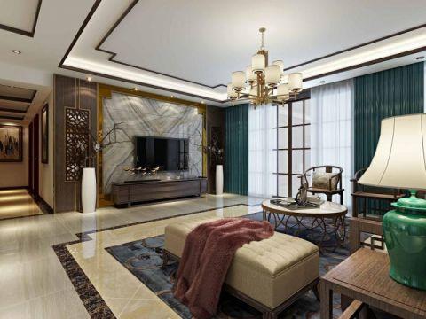 客厅窗帘简中风格装饰设计图片