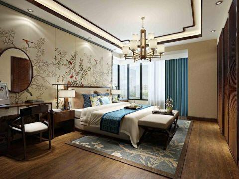 卧室背景墙简中风格效果图