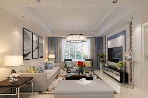 简约风格110平米三房两厅新房装修效果图