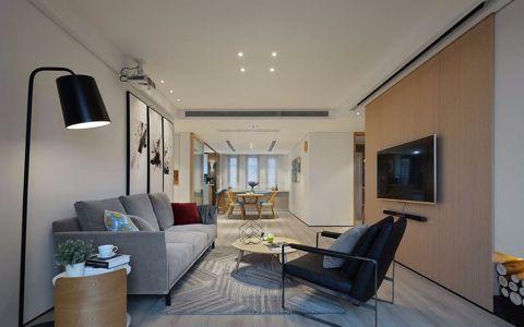北欧风格120平米三室两厅室内装修效果图