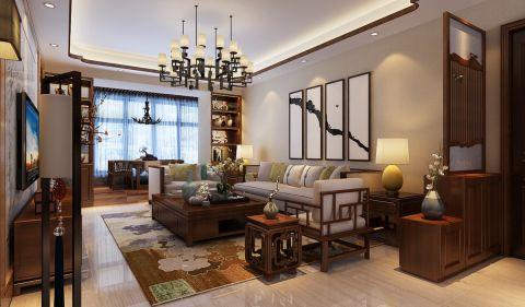 新中式风格140平米套房室内装修效果图