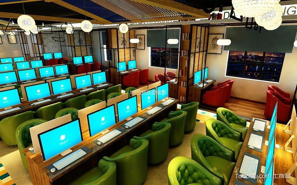 休闲网吧大厅装饰效果图欣赏