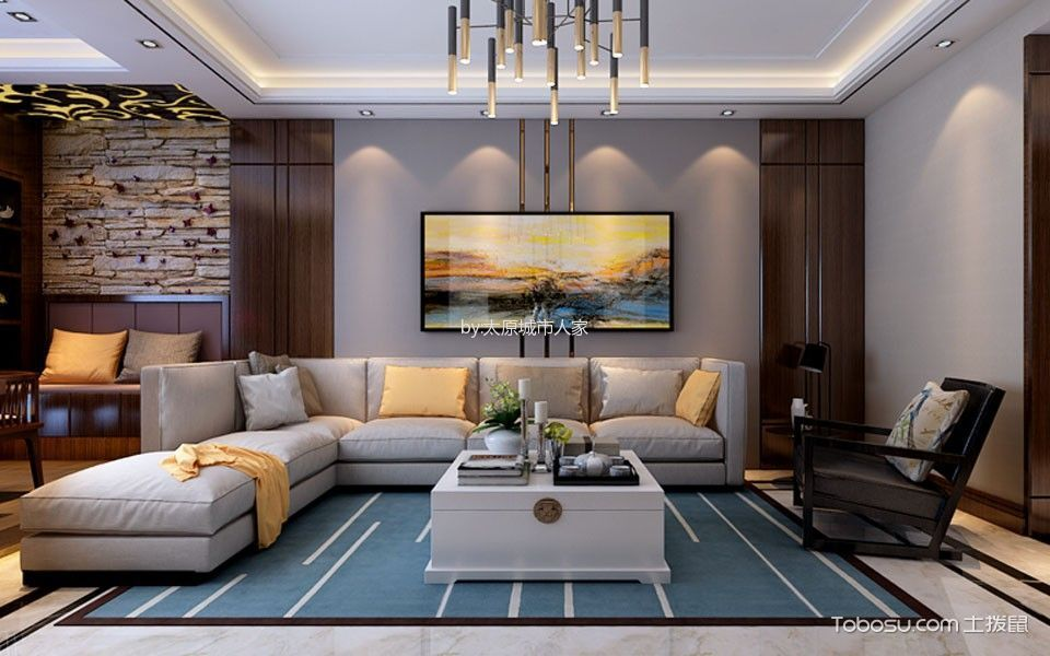 华润中海幸福里四居室现代简约风格