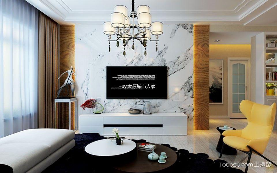 温暖香舍漫香堤三居室现代简约样板间装修效果