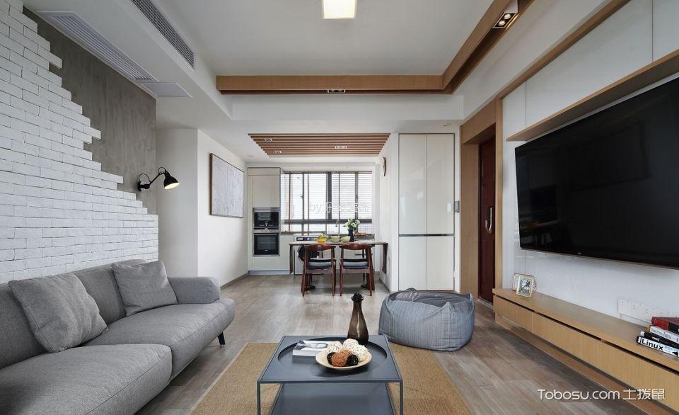 120平简约风格三居室装修实景案例