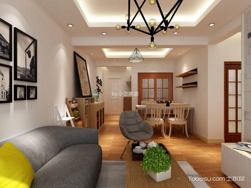 北欧风格90平米三室两厅室内装修效果图