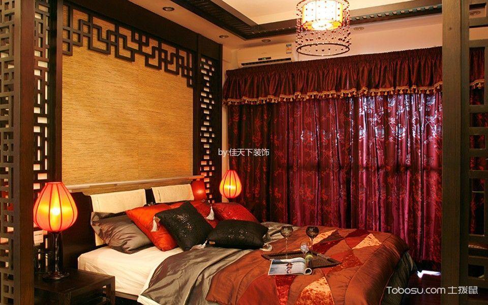 中式风格100平米三室两厅室内装修效果图
