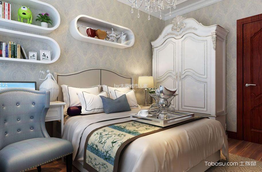 卧室白色衣柜欧式风格效果图