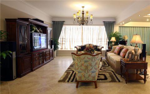 美式风格100平米三房两厅新房装修效果图