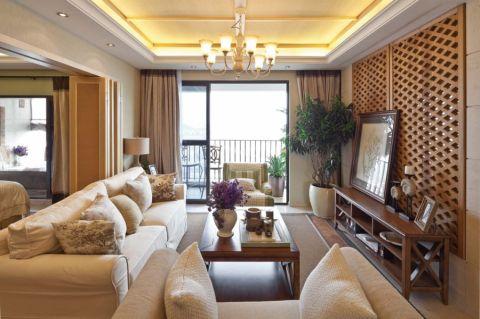 新中式风格85平米两室两厅室内装修效果图