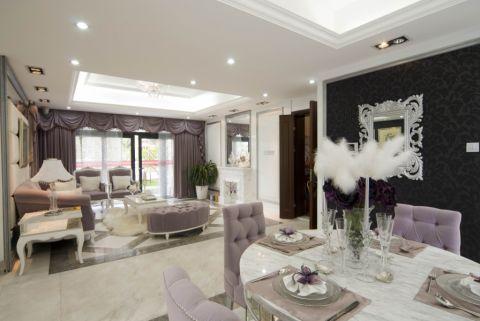 简欧风格116平米3房2厅房子装饰效果图