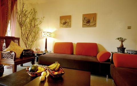 客厅照片墙混搭风格装潢设计图片
