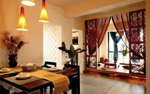 混搭风格110平米4房2厅房子装饰效果图
