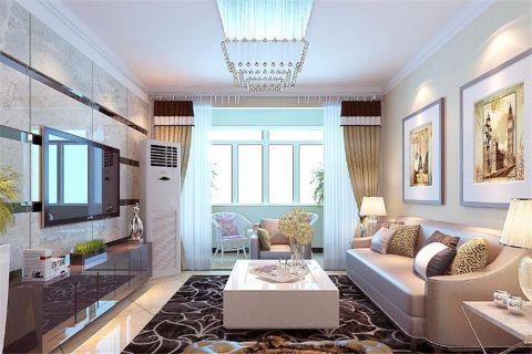 现代简约风格120平米3房2厅房子装饰效果图