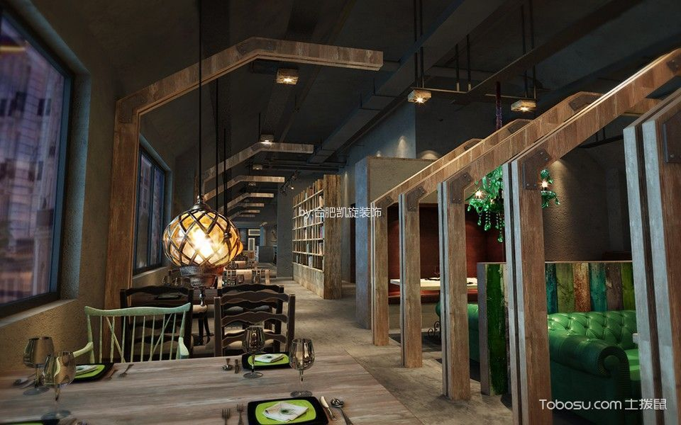 时尚餐馆走廊设计图欣赏