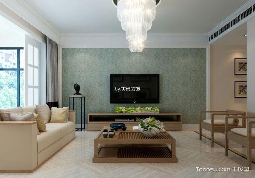 华润红叶林125平现代简约风格效果图