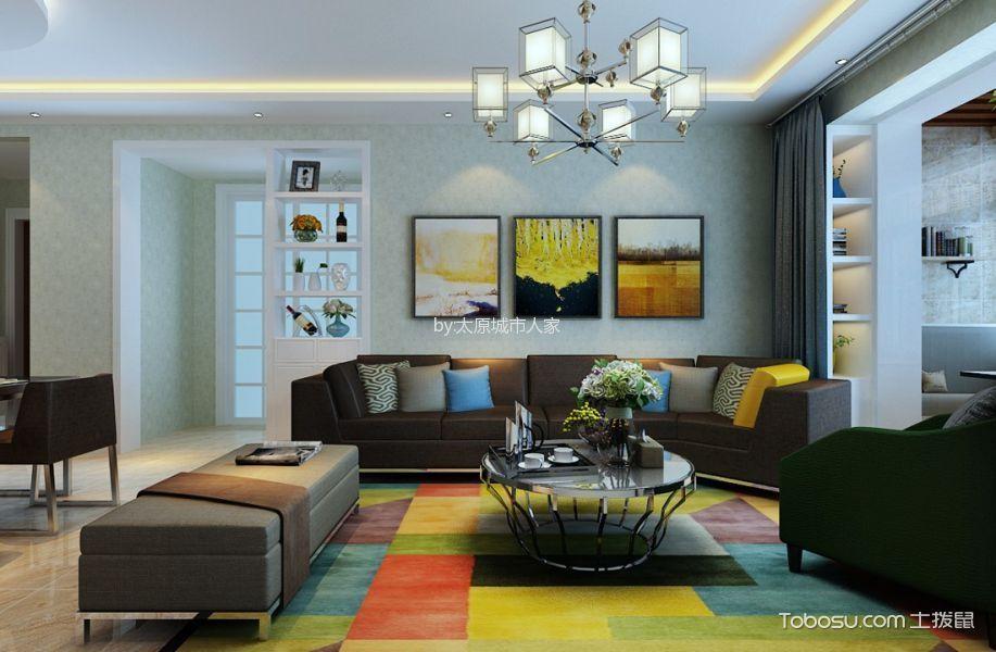 绿景未来城110平米三居室现代简约装修设计