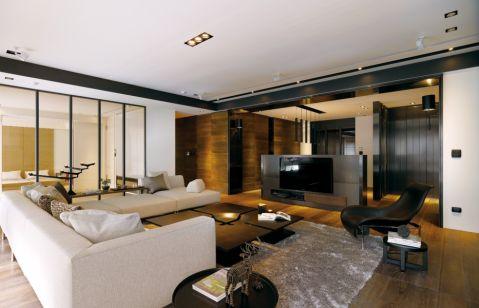 后现代风格130平米三室两厅室内装修效果图