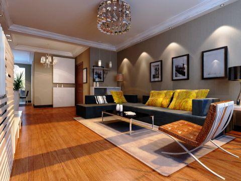 现代简约风格109平米三室两厅室内装修效果图