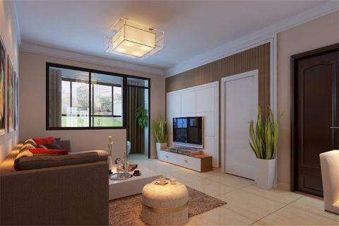 现代简约风格117平米三室两厅室内装修效果图