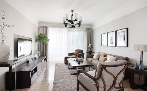 现代风格107平米三室两厅室内装修效果图