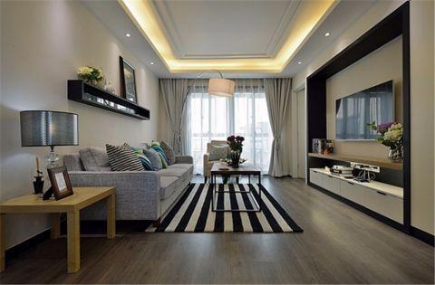混搭风格142平米三室两厅室内装修效果图