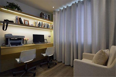 书房窗帘混搭风格装修图片