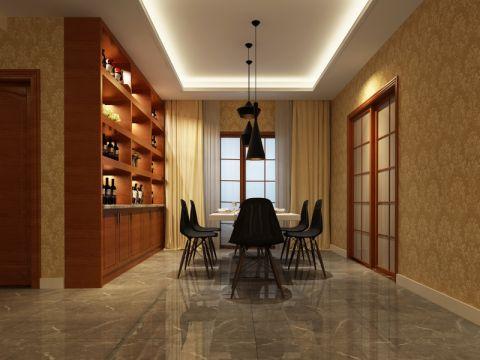餐厅博古架现代风格装饰设计图片