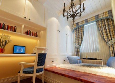 书房窗帘地中海风格装潢设计图片