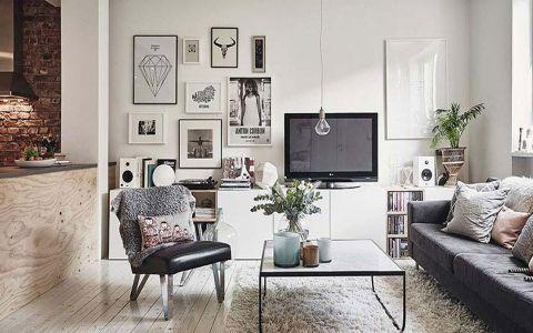 北欧风格92平米小面积室内装修效果图