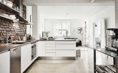 厨房吊顶北欧风格装修效果图