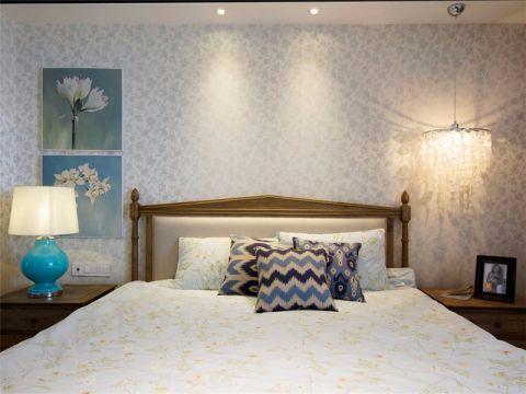 卧室背景墙简约风格装饰设计图片