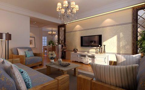 现代简约风格89平米两室两厅室内装修效果图