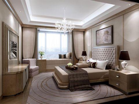 混搭风格88平米三室两厅室内装修效果图