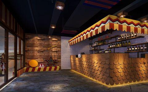 美式风格主题餐厅收银台装饰图片