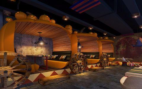 美式风格主题餐厅包间装饰效果图