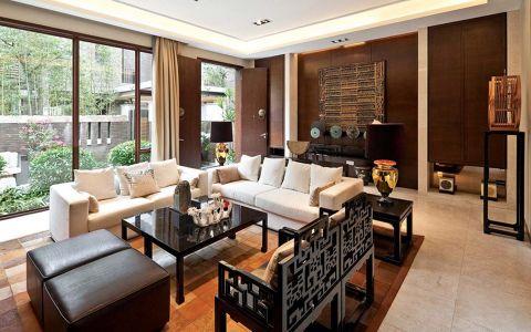 现代中式风格110平米复式新房装修效果图