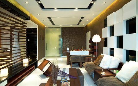新中式风格110平米跃层新房装修效果图