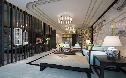 新中式风格80平米小户型室内装修效果图