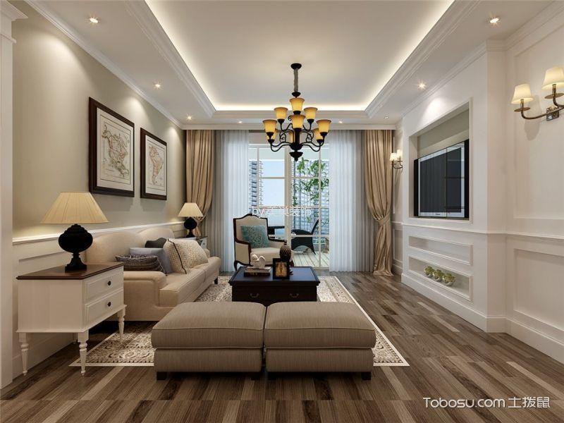 美式风格140平米3房2厅房子装饰效果图