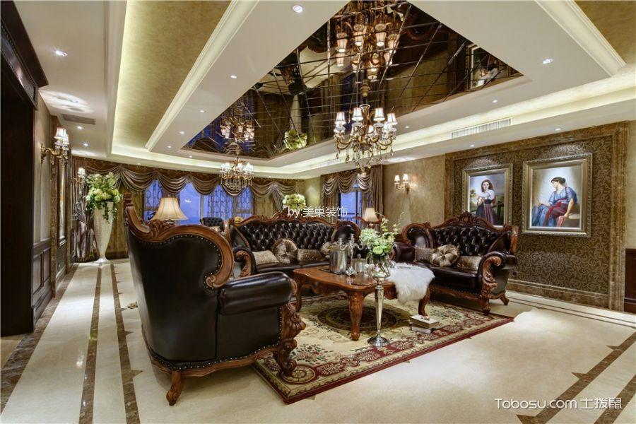 欧式风格150平米3房2厅房子装饰效果图