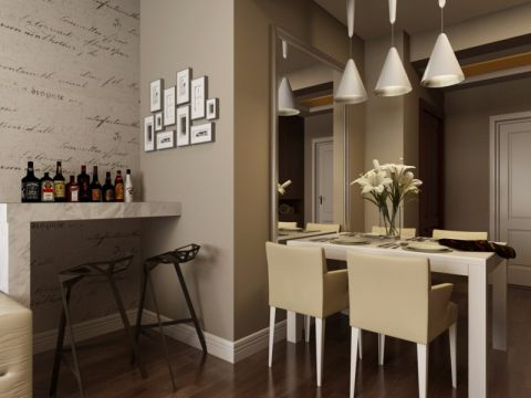 餐厅餐桌现代简约风格装修效果图