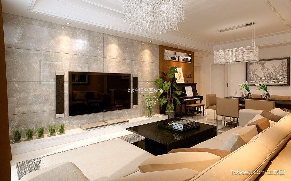 琥珀五环城现代风格四居室装修效果图