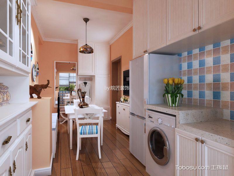 厨房彩色背景墙简欧风格装修效果图
